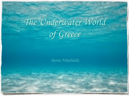 The Underwater World of Greece