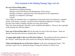 Strategy as the Prioritisation and Management