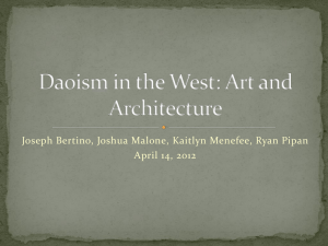 Daoism in the West: Art and Architecture