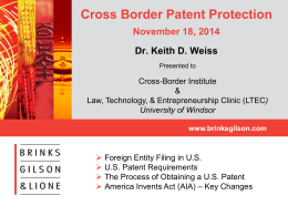 Cross Border Patent Protection