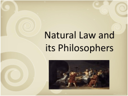 Natural Law Philosophers Powerpoint