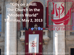 City on a Hill: The Church in the Modern World