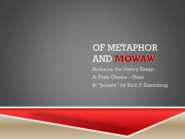 Of Metaphor and MOWAW