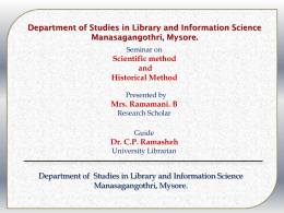 Department of Studies in Library and Information Science