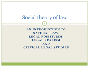Social Theory of Law, lecture 2