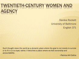 Twentieth-Century Women and Agency