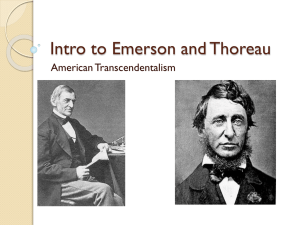 Week 3, Day 2, Emerson and Thoreau
