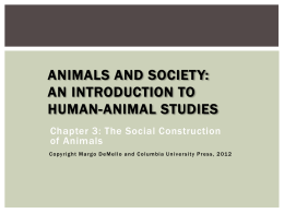The Sociozoologic Scale - Animals and Society Institute