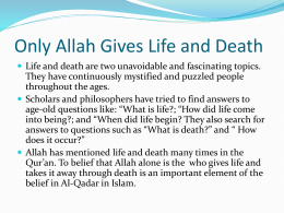 Only Allah Gives Life and Death Grade 11