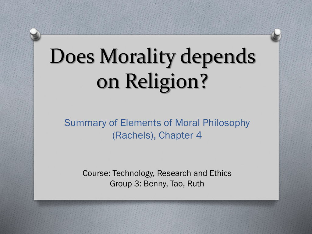 how does religion affect ethics