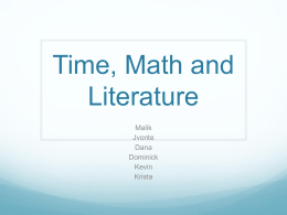 Time, Math and Literature