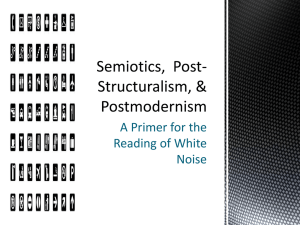Semiotics and Postmodernism