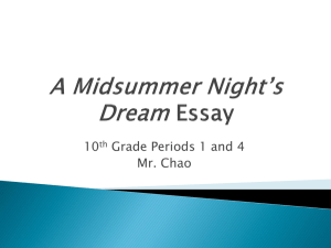 A Midsummer Night*s Dream Essay