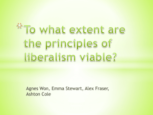 To what extent are the principles of liberalism - wolfesocial30-1