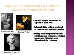 Timeline of American Literature File