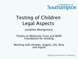 Testing of Children Legal Aspects