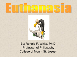 Euthanasia - College of Mount St. Joseph