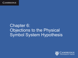 Objections to the Physical Symbol System Hypothesis