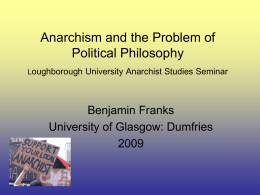 Anarchism and the Problem of Political Philosophy