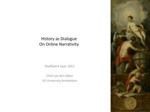 History as Dialogue - University of Sheffield
