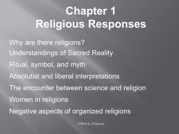 Introduction to Religions