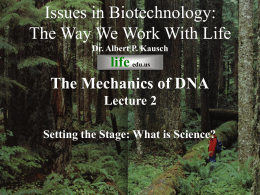 Issues in Biotechnology