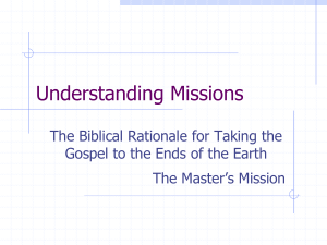 A Biblical Philosophy of Missions