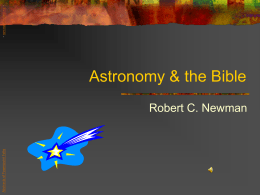 PowerPoint Presentation - Astronomy & the Bible