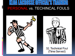Personal vs. Technical Fouls