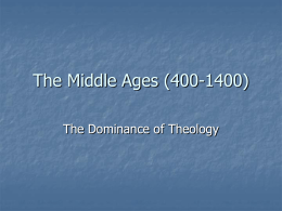 The Middle Ages (400-1400) - The Critical Thinking Community
