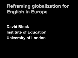 Reframing globalization for English in Europe