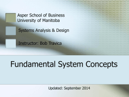 Fundamental system concepts