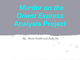 Murder on the orient express project