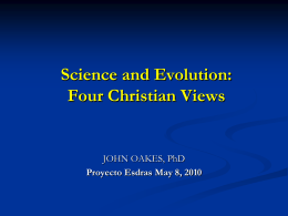 ppt Four Christian Views of Evolution