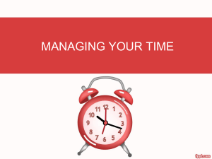 Time Management PPT Presentation for Managers