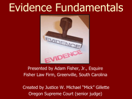 Burden of Proof: Preponderance of Evidence v. Reasonable Doubt