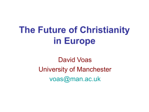 The Future of Christianity in Europe