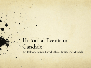 Historical Events in Candide