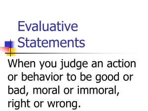 Evaluative Statements