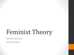Feminist Theory: Part One