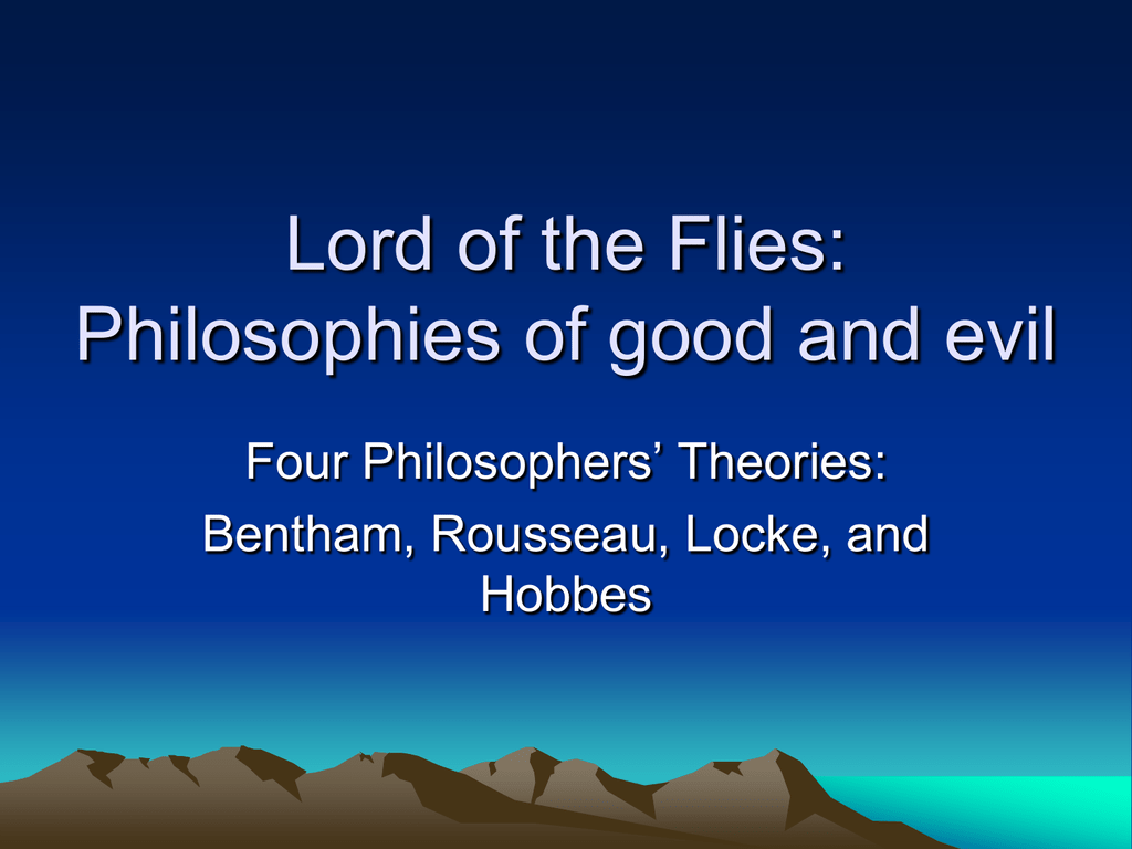 An analysis of lockes ideas and the parallels in lord of the flies
