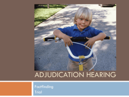 Adjudication Hearing