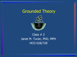 Grounded Theory Presentation