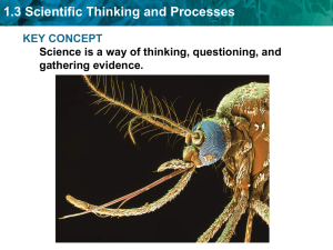 1.3 Scientific Thinking and Processes