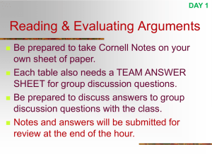 Argument Analysis Lecture Slides