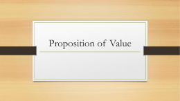 Proposition of Value