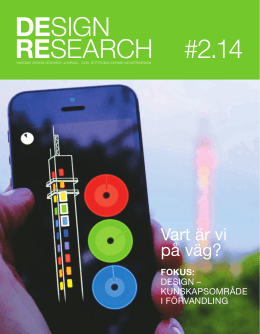Swedish Design Research Journal nr 2 2014