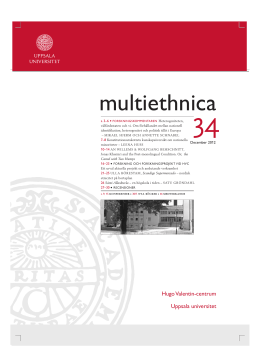Multiethnica nr 34 (2012). /Ladda ner digital version