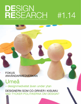 Swedish Design Research Journal nr 1 2014