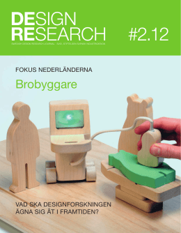 Swedish Design Research Journal nr 2 2012